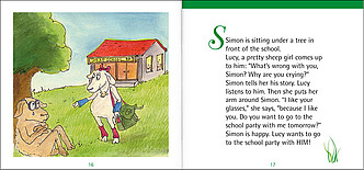 "Beispielseiten aus ""Time for stories, Heft 2: Simon the sheep"""